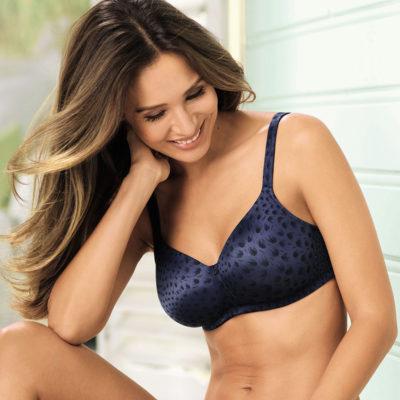 Woman sitting on porch wearing Anita brand bra